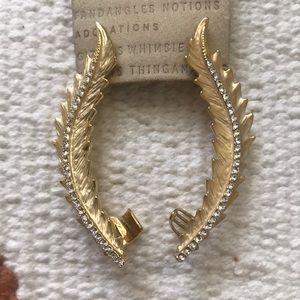 Beautiful Gold Cuff Earrings